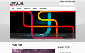 SimpleOne Free WordPress Theme