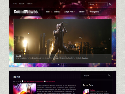 SoundWaves Free WordPress Theme