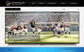SportBlog Free WordPress Theme
