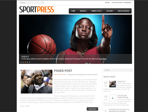 SportPress Free WordPress Theme