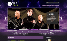 StormMusic Free WordPress Theme
