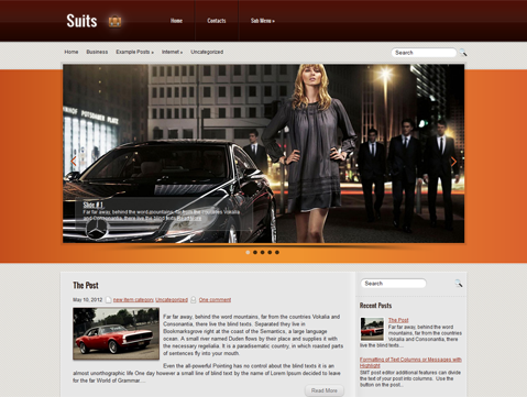 Suits Free Wordpress Theme