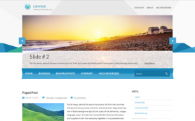 Summer Free WordPress Theme