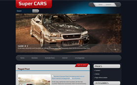 SuperCars Free WordPress Theme