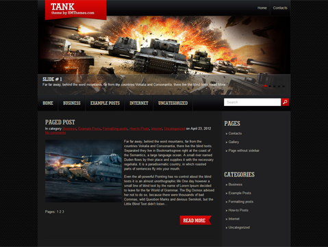 Tank Free WordPress Theme
