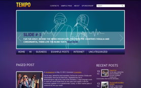 Tempo Free WordPress Theme