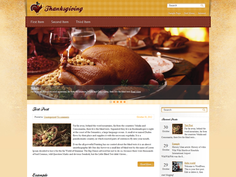 Wordpress Themes Thanksgiving