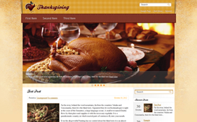 Thanksgiving Free WordPress Theme