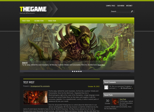 TheGame Free WordPress Theme