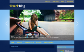 TravelBlog Free WordPress Theme