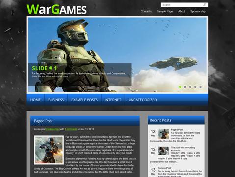 plantillas gratuitas para blog de juegos en wordpress