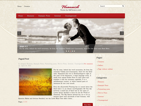 Womanish Free WordPress Theme