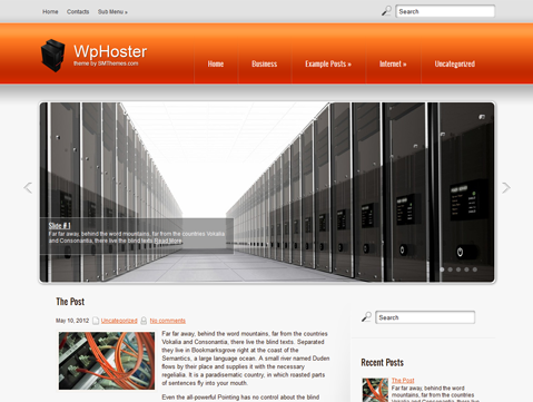 WpHoster Free WordPress Theme