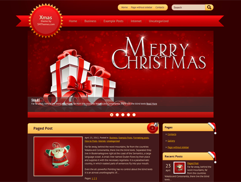 Xmas Free WordPress Theme