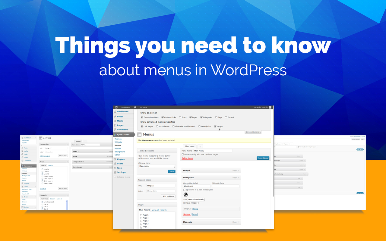 Things you need to know about menus in WordPress