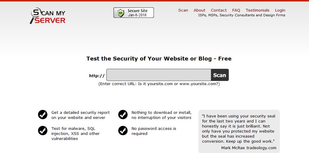 Website Virus Scanner- Best Website Security Testing Tools