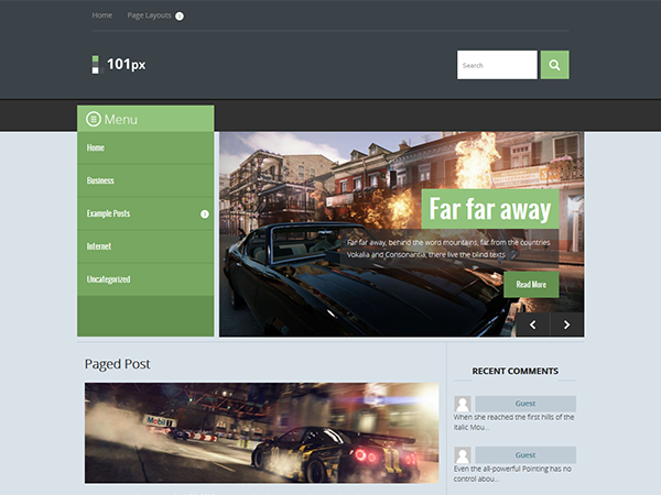 101px WordPress Theme