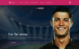 24soccer Free WordPress Theme