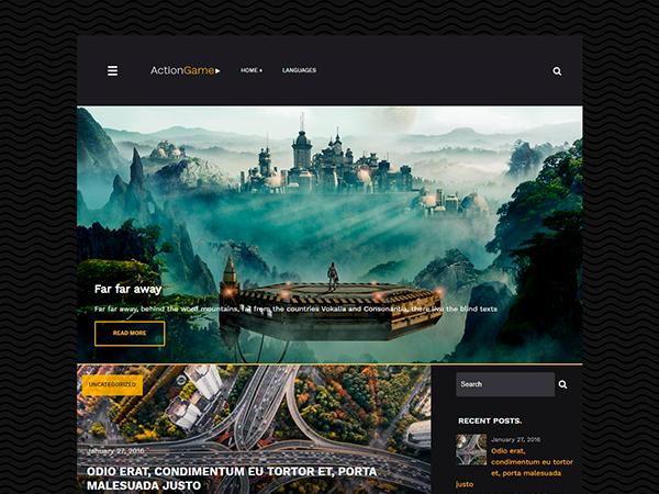 ActionGame WordPress Theme