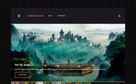 ActionGame Free WordPress Theme