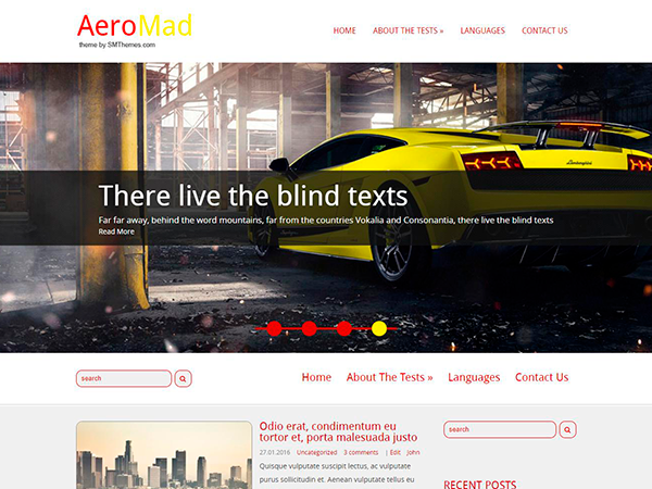 AeroMad Free WordPress Theme