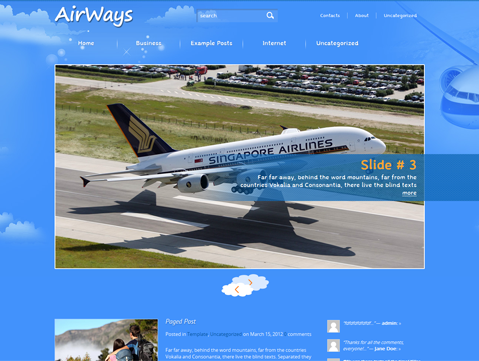AirWays Free WordPress Theme