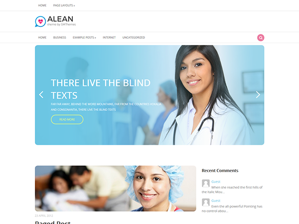 Alean Free WordPress Theme