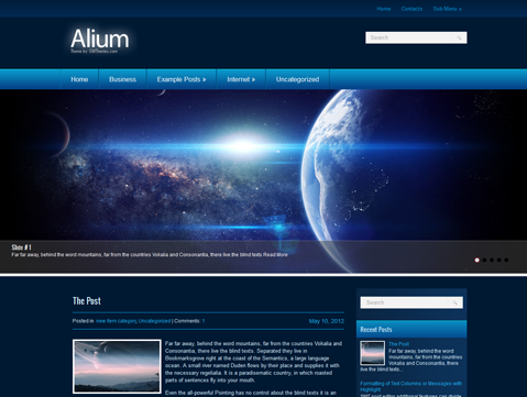 Alium Free WordPress Theme