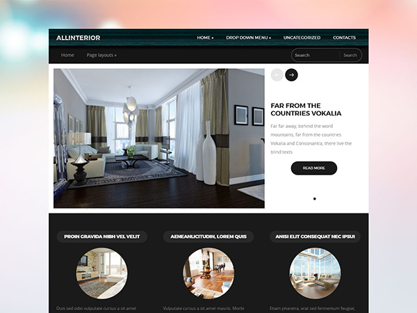 AllInterior WordPress Theme