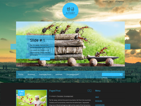 Alphabet Free WordPress Theme