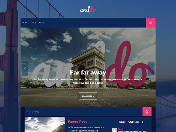 AndDO Free WordPress Theme