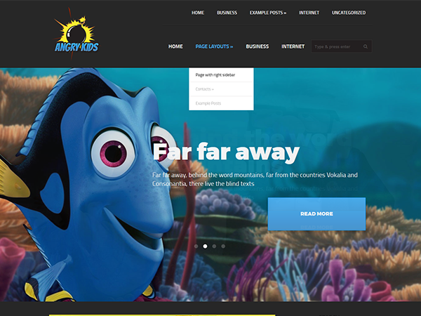 AngryKids Free WordPress Theme
