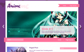 Anime Free WordPress Theme