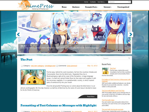 AnimePress Free WordPress Theme