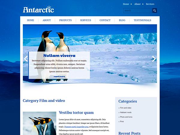 Antarctic WordPress Theme