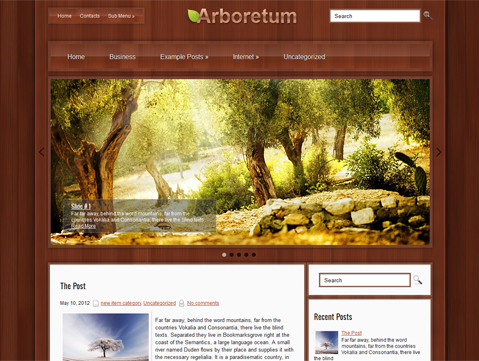 Arboretum Free WordPress Theme