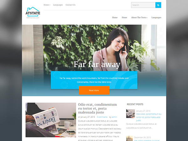 AtState Free WordPress Theme