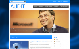 Audit Free WordPress Theme