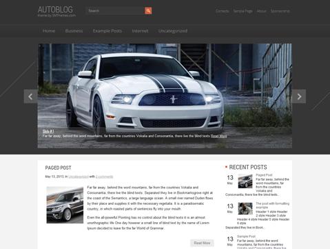 AutoBlog WordPress Theme