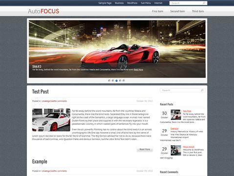 AutoFocus Free WordPress Theme
