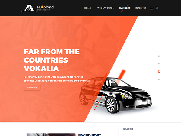 AutoLand WordPress Theme