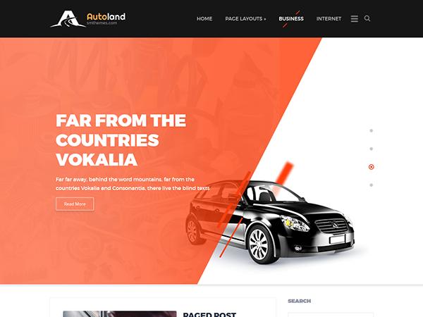 AutoLand Free WordPress Theme