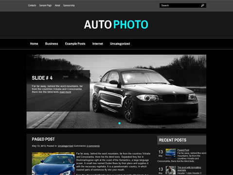 AutoPhoto WordPress Theme