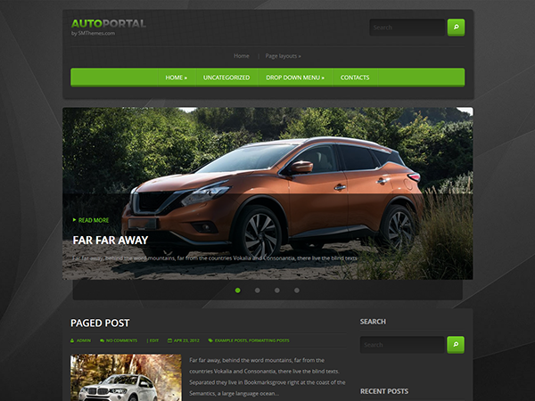 AutoPortal Free WordPress Theme