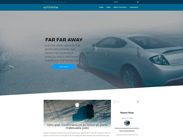 AutoShow Free WordPress Theme