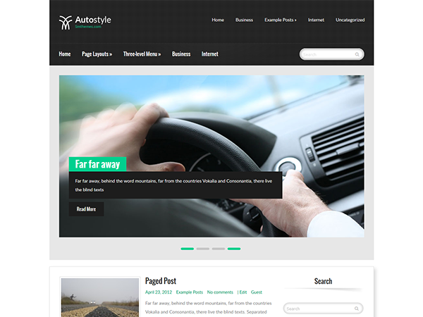 AutoStyle Free WordPress Theme