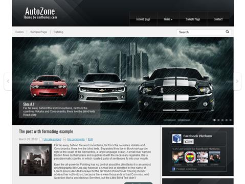 AutoZone Free WordPress Theme