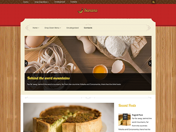 Banana Free WordPress Theme