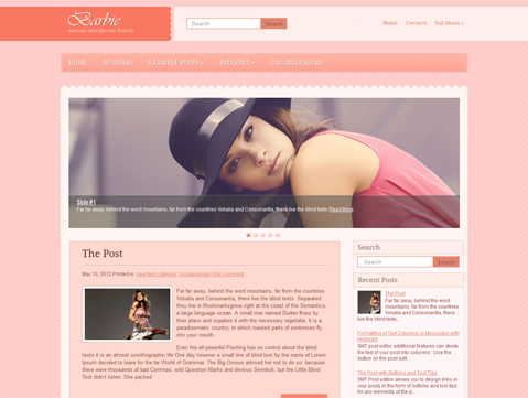 Barbie WordPress Theme