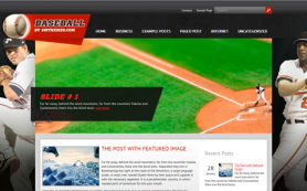 Baseball Free WordPress Theme